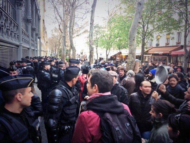 Depuis vendredi, les intermittents occupent le Carreau du Temple, à Paris (DR)