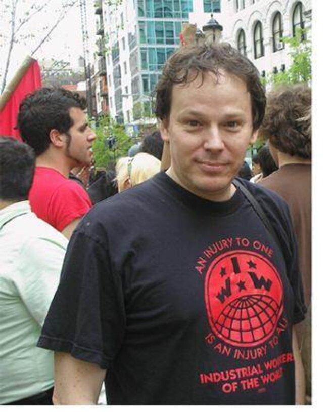 David Graeber, avec les Indignés à New York.