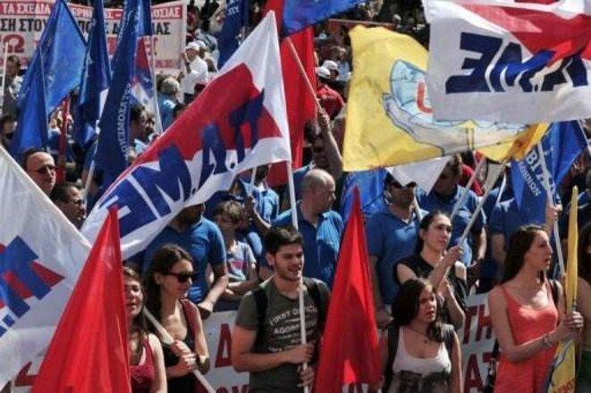 Manifestation anti-austérité à Athènes le 1er mai (AFP/Louisa Gouliamaki)