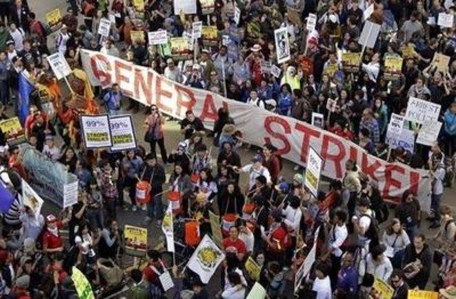 Manifestation des Indignés d'Oakland, le 2 novembre.