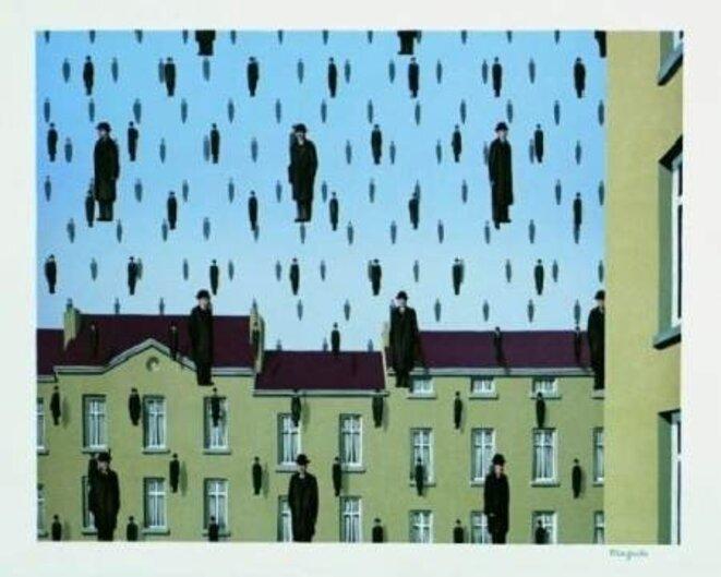 «Golconde», René Magritte.