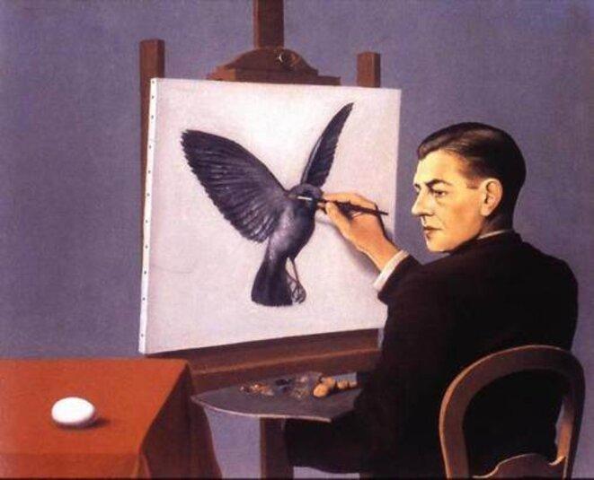 «La clairevoyance», René Magritte.