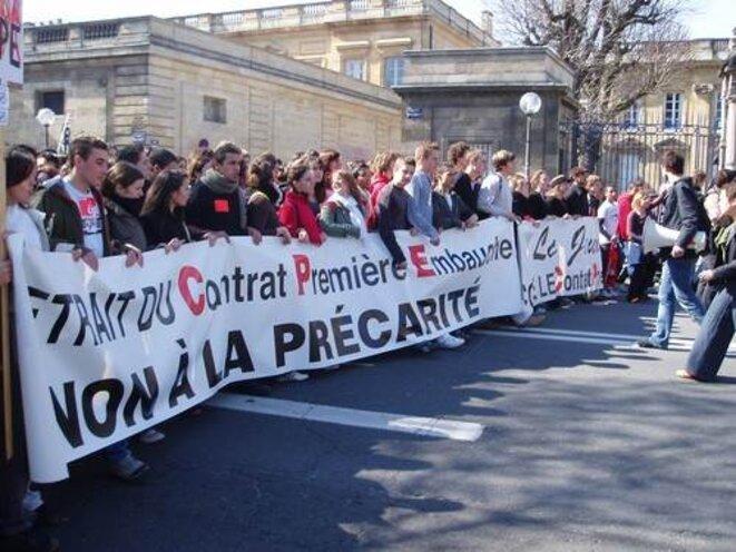 La jeunesse contre le CPE en 2006.