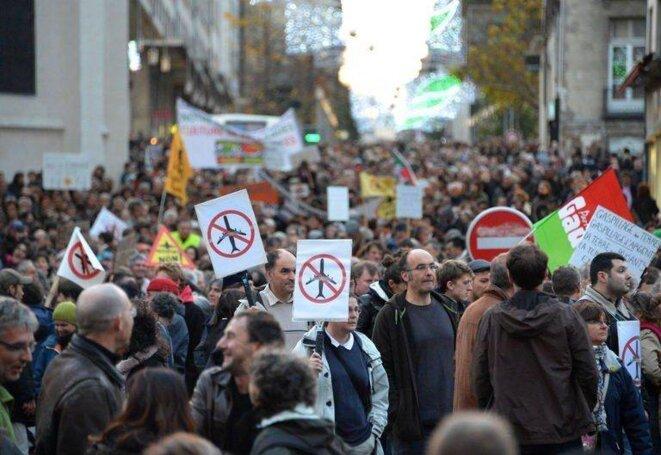 Manifestation contre le projet d'aéroport à Notre-Dame des Landes, le 24 novembre