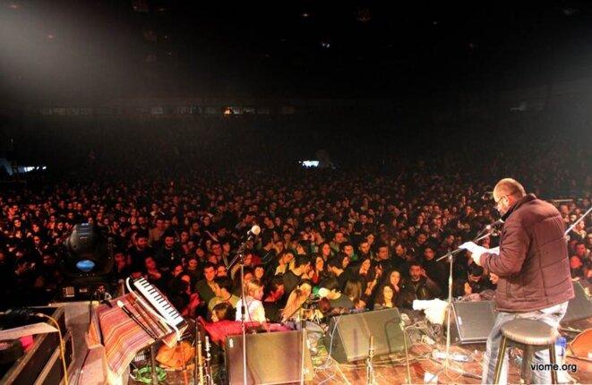 Concert de soutien aux travailleurs de Vio Me à Thessalonique
