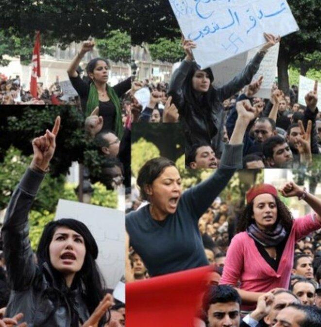 Révolution tunisienne en 2011. Le combat pour la démocratie est revivifié par les peuples arabes.