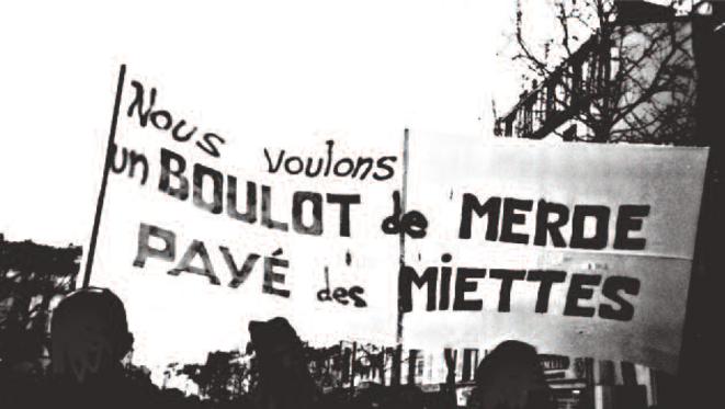 Manifestation lors du mouvement qui rassembla des milliers de chômeurs, en 1997. L'humour était aussi au rendez-vous...