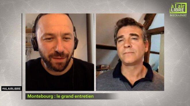 «A l'air libre»: entretien avec Arnaud Montebourg, masques «grand public»