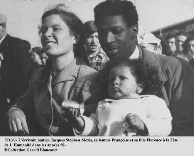 J. S. Alexis avec Françoise et leur fille Florence