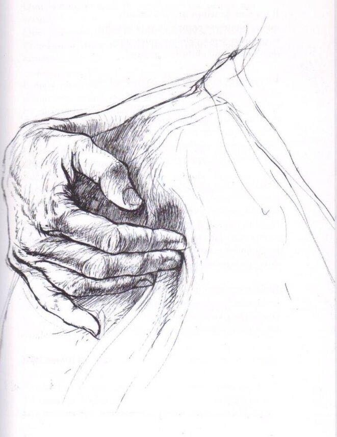 Dessin à la plume (2001)  © Ernest Pignon-Ernest (dr)