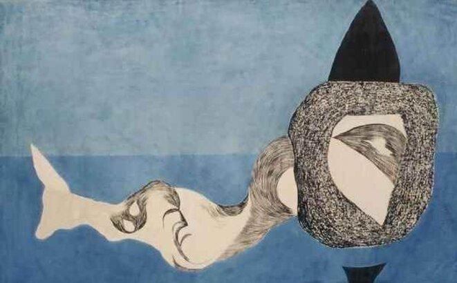 Lajos Vajda - Monstre dans un espace bleu (1939)