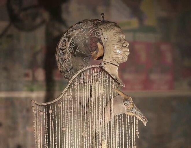 """Pascale Monnin, """"L'ange sacrifié"""", installation"""