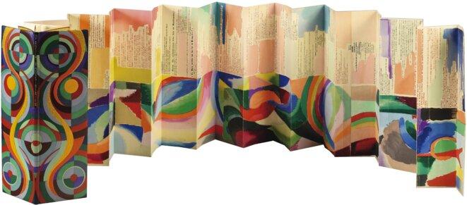 Le Transsibérien, fac-similé de l'objet poème en forme de dépliant réalisé par Sonia Delaunay en 1913. © (dr)