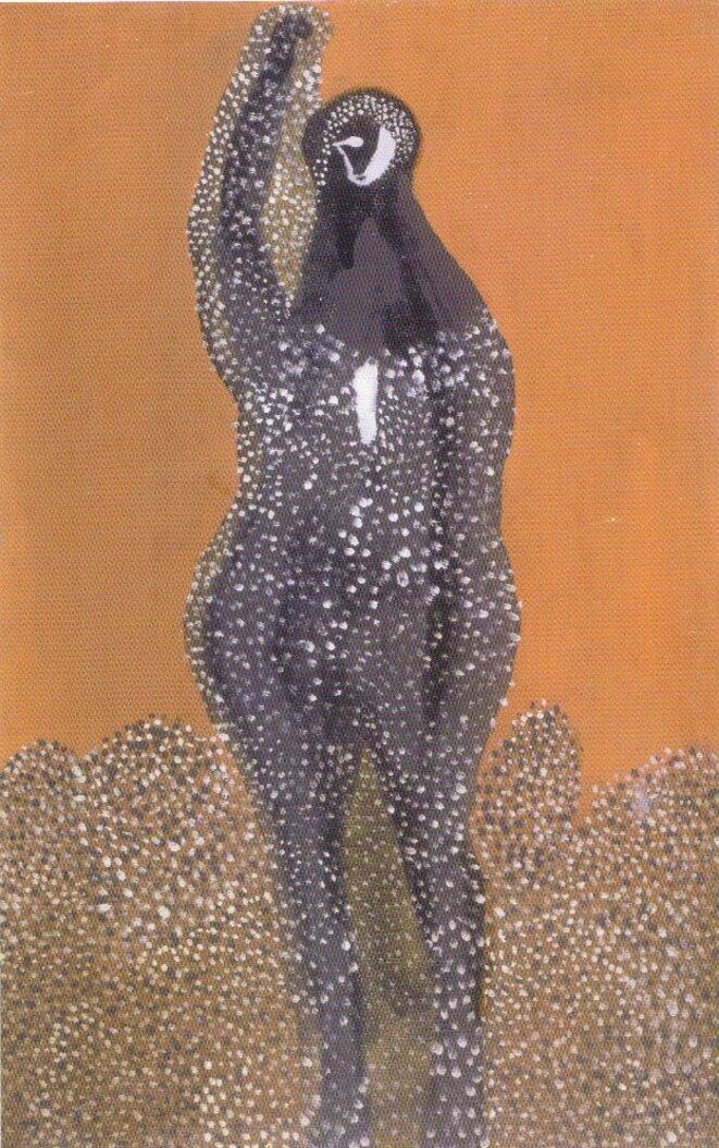 Lajos Vajda, Figure, huile sur carton, 1936