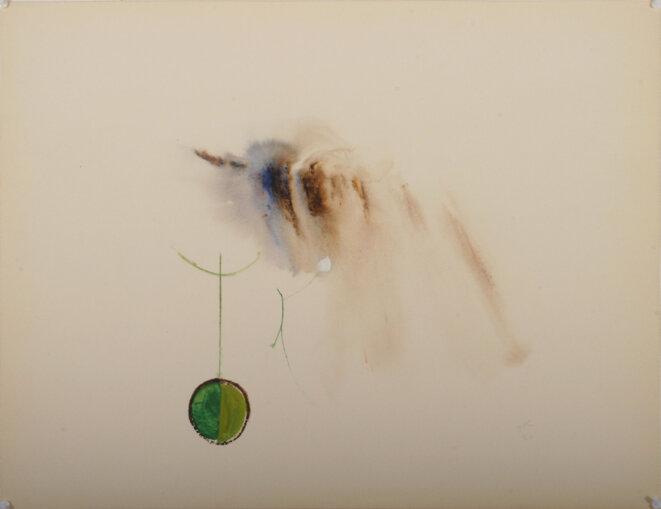Odile Savajols-Carle, aquarelle (1960) © Tous droits réservés