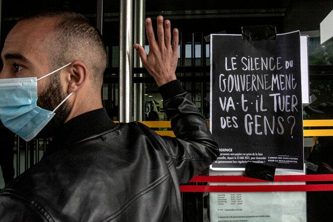 Occupation de l'Office des étrangers à Bruxelles