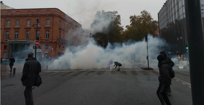 Gilets Jaunes à Toulouse: Acte 53 sous les gaz lacrymos!