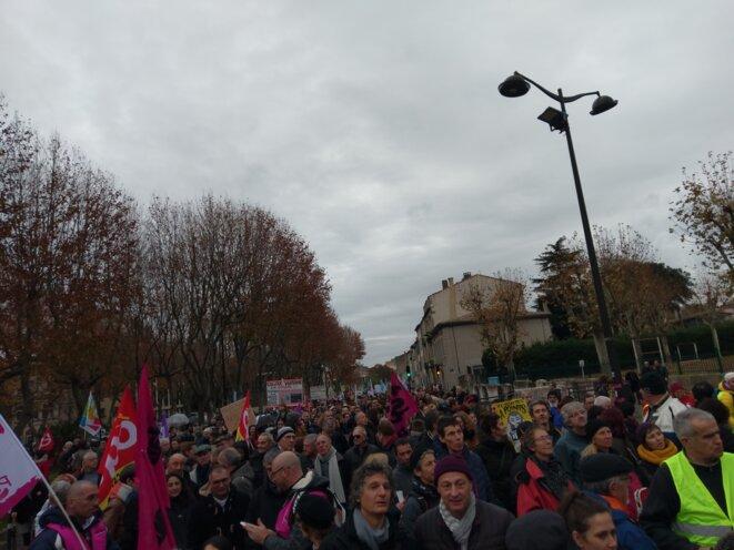 Manif contre la réforme des retraites à Carcassonne