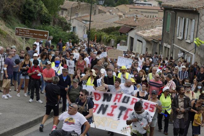 Manifestation contre le passe sanitaire à Carcassonne