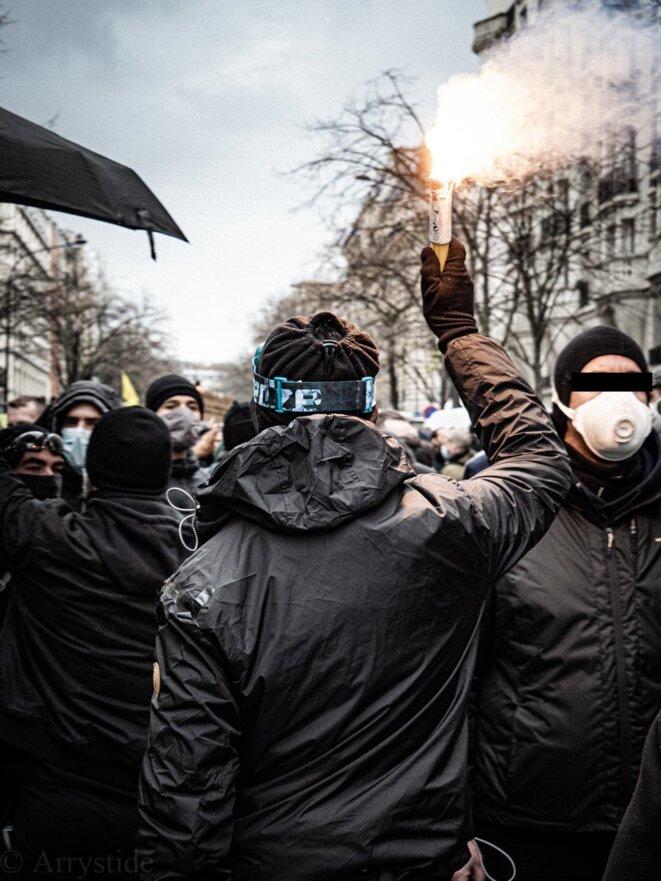 Répression de la marche des libertés du 30 janvier à Paris