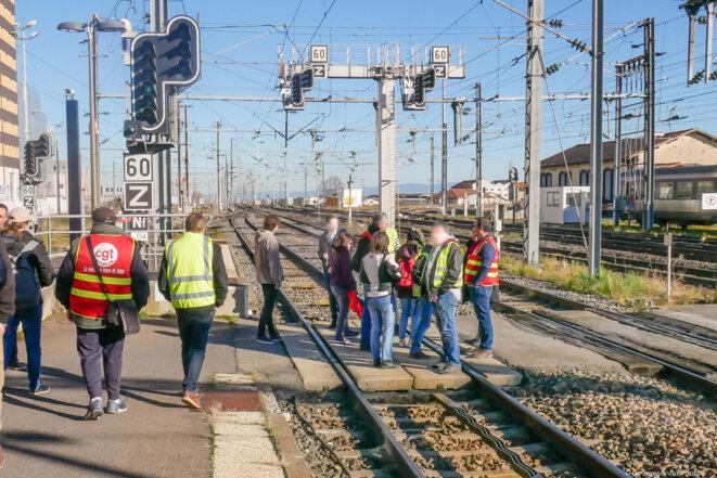 Blocage en gare de Clermont-Ferrand