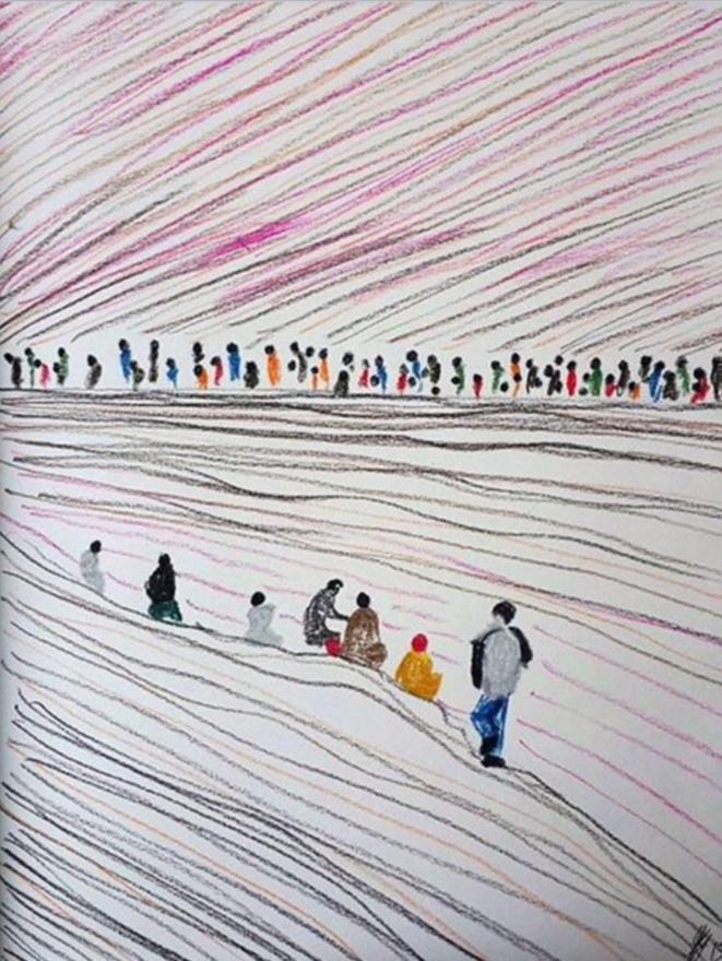 Lampedusa watercolor tears