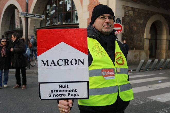 11 janvier à Paris: les gilets jaunes contre la réforme