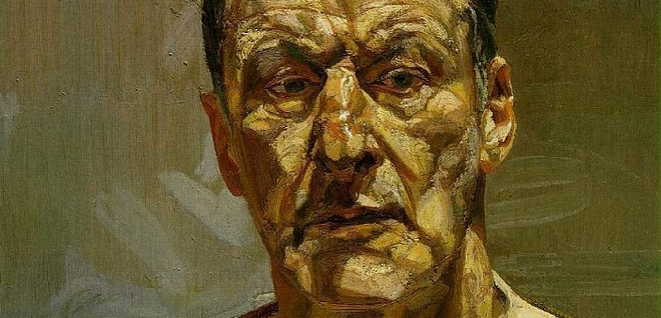 Autoportrait  (1985) / recadré © Lucian Freud