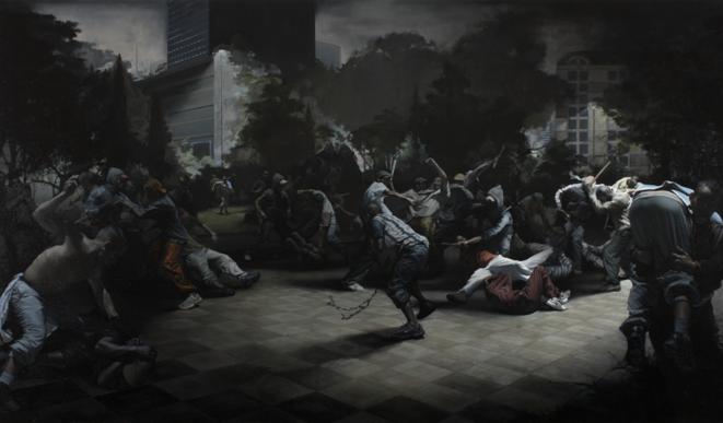 Sans titre, huile sur toile, 170 x 300 cm, 2008. © Guillaume Bresson