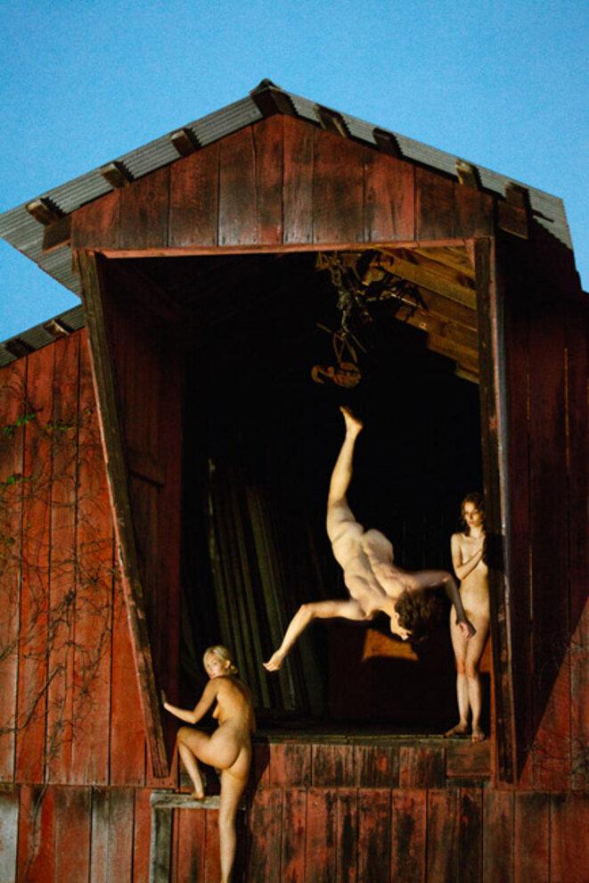 Barn Flip, 2013 © Ryan McGinley, courtesy Galerie Perrotin