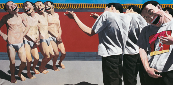 Execution, 1995, huile sur toile, 150 × 300 cm
