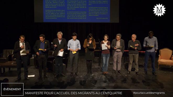 Mediapart Live: le «Serment du Centquatre» pour l'accueil des migrants