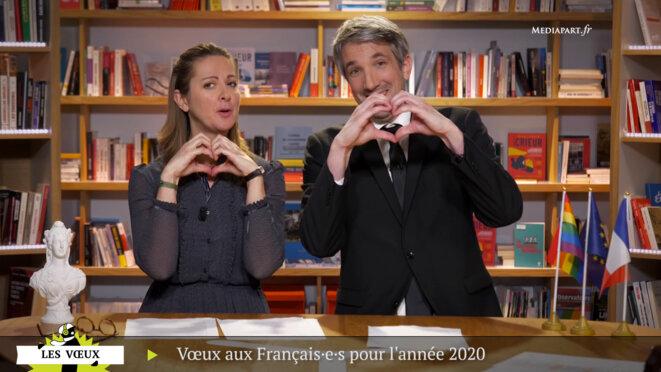 Les vœux de joie de Charline Vanhœnacker et Guillaume Meurice