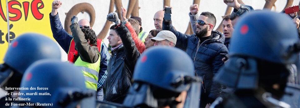 Les raffineries au ralenti, la grève reconductible prend forme
