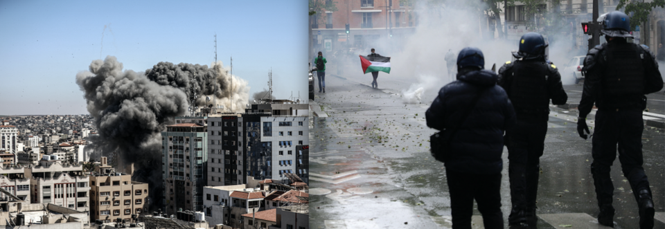 Bombardements à Gaza, état de siège à Paris