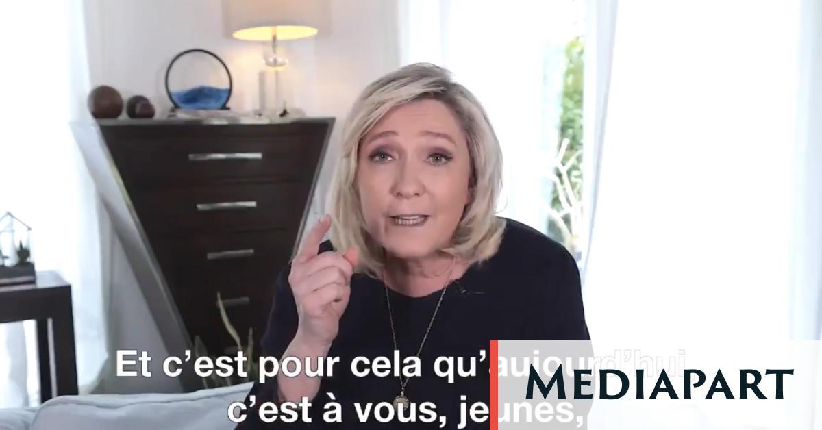 Marine Le Pen prétend aider «les jeunes», surtout les moins pauvres