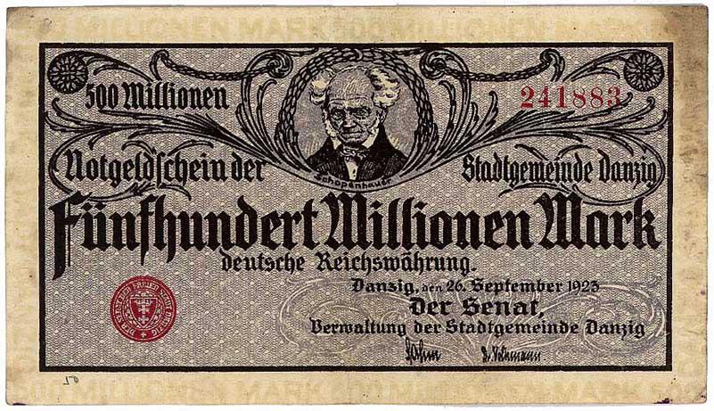 500 000 000 marks 26 septembre 1923