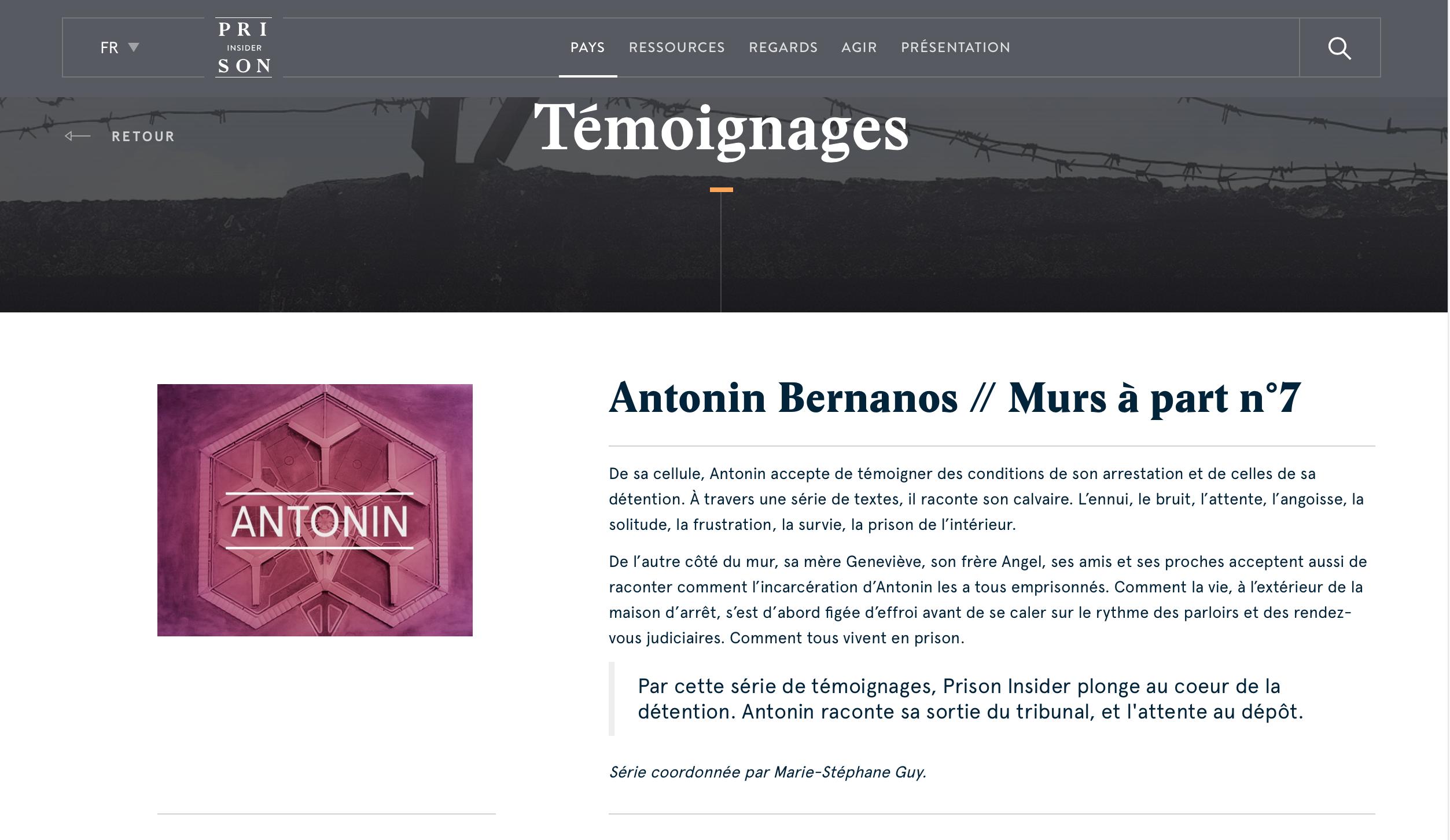 Antonin Bernanos : la suite de son témoignage sur le site ...
