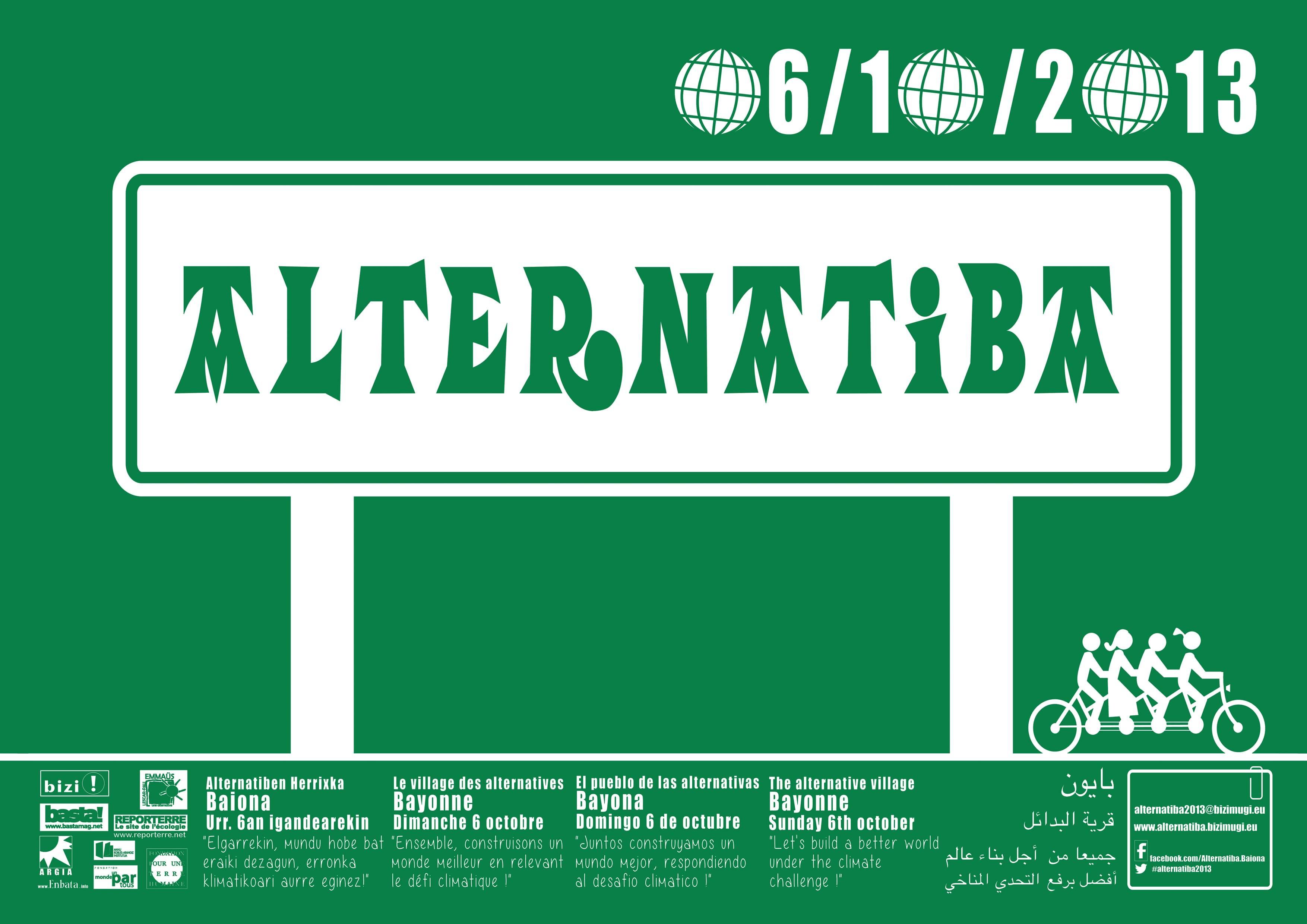 Affiche Alternatiba 2013