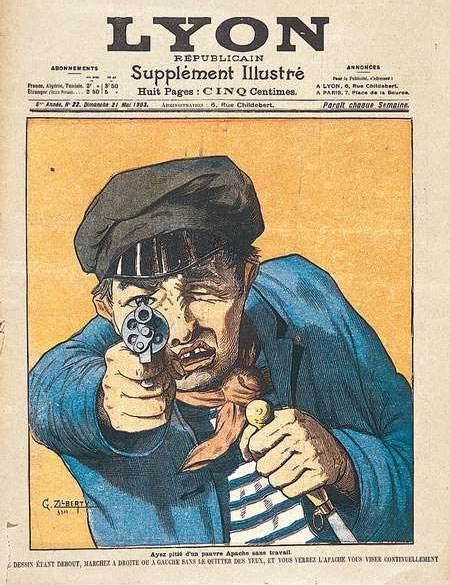 """""""Ayez pitié d'un pauvre Apache sans travail"""", Lyon Républicain, 1903."""