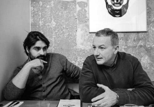 "Fabrice Arfi et Antoine Peillon / photo : Laurent Hazgui, pour ""Regards"""