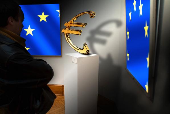 l'euro sur un piédestal