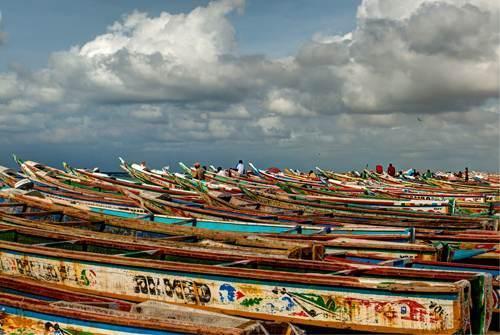 Les pirogues de la plage de Yoff, Copyright Bastien Renouil