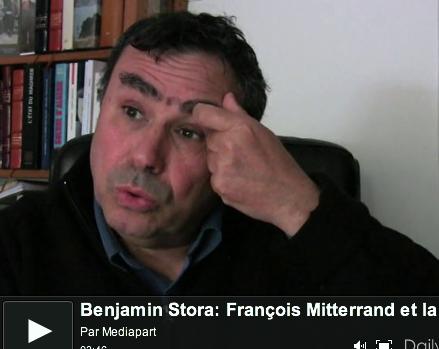 Benjamin Stora (vidéo accessible dans le corps de l'article).