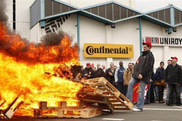 Lundi 4 janvier 2010, l'usine Continental sera définivement fermée!