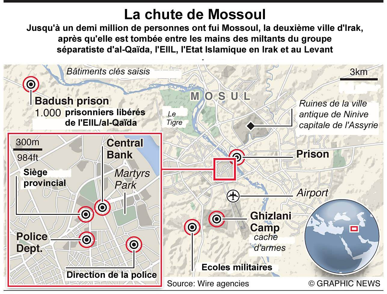carte de Mossoul