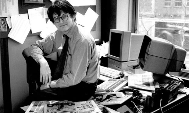 Alan Rusbridger, lors de sa prise de fonction en 1995