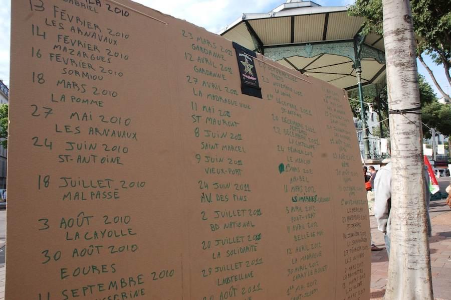 Liste des règlements de comptes à Marseille, lors du «18 joint» 2014.
