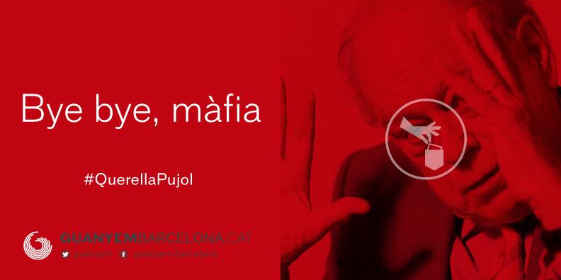 Affiche de campagne de Guanyem qui exploite le scandale de corruption qui frappe Jordi Pujol.