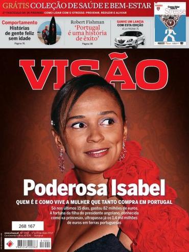 Isabel Dos Santos en couverture de l'hebdomadaire portugais Visão